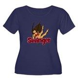 Swinger Women's Plus Size Scoop Neck Dark T-Shirt