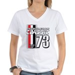 Musclecars 1973 Women's V-Neck T-Shirt