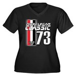 Musclecars 1973 Women's Plus Size V-Neck Dark T-Sh