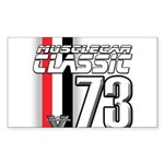 Musclecars 1973 Rectangle Sticker 50 pk)