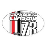 Musclecars 1973 Oval Sticker (10 pk)