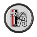 Musclecars 1973 Large Wall Clock