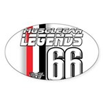 Legends 66 Oval Sticker (10 pk)