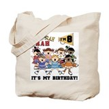 Cheerleader 8th Birthday Tote Bag