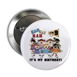 "Cheerleader 9th Birthday 2.25"" Button"