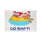 Go Raft Rectangle Magnet (10 pack)