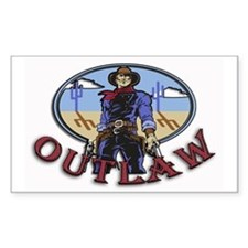 Cowboy Outlaw Rectangle Decal