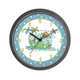 Monkey Around in Tub Wall clock