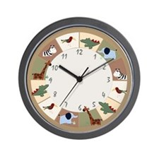 Zanzibar Jungle Safari Wall Clock
