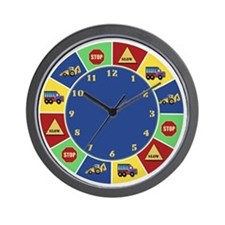 Construction Road Work Wall Clock