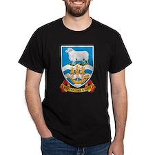 Falkland Islands Coat Of Arms Black T-Shirt