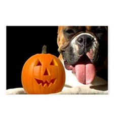 Halloween Boxer Postcards (Package of 8)