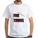 Five Towns White T-Shirt