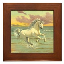 UNICORN SHORES Framed Tile