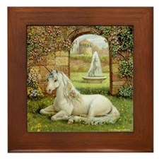 UNICORN GARDEN Framed Tile