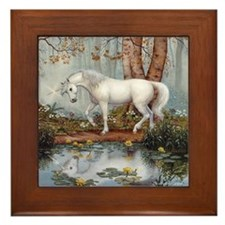 UNICORN REFLECTION Framed Tile