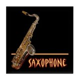 Tenor Sax Tile Coaster