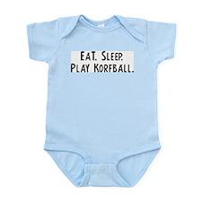Eat, Sleep, Play Korfball Infant Creeper