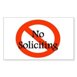 No Soliciting Decal