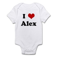 I Love Alex Infant Bodysuit