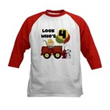 Fireman 4th Birthday Tee