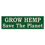 Legalize Hemp Farming Green - Bumper Sticker
