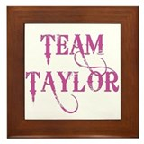 TEAM TAYLOR Framed Tile