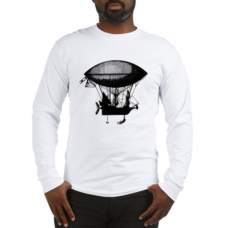 Steampunk pirate airship Long Sleeve T-Shirt