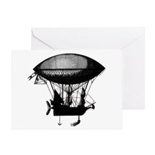 Steampunk pirate airship Greeting Card
