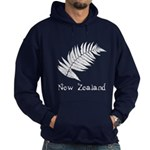 New Zealand Leaves Blue Hooded Sweatshirt