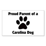 Proud: Carolina Dog Rectangle Decal