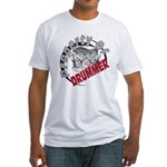 Property Of Drummer Fitted T-Shirt