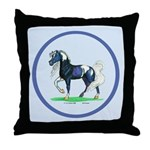 Pinto Arabian Horse Throw Pillow