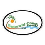Emerald Coast FL Oval Decal
