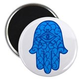 Blue Hamsa Magnet