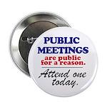 """""""Public meetings"""" 2.25"""" Button"""