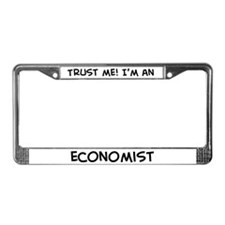 Trust Me: Economist License Plate Frame