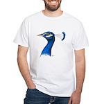 Peacock Head White T-Shirt