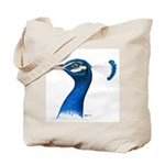 Peacock Head Tote Bag
