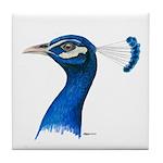 Peacock Head Tile Coaster