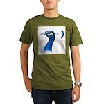 Peacock Head Organic Men's T-Shirt (dark)