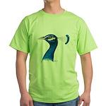 Peacock Head Green T-Shirt
