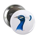 """Peacock Head 2.25"""" Button (100 pack)"""