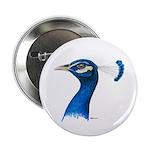 """Peacock Head 2.25"""" Button"""