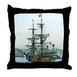 Tall Ships Throw Pillow
