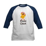 Pirate Chick Kids Baseball Jersey