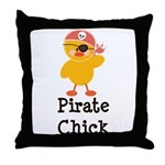 Pirate Chick Throw Pillow