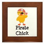 Pirate Chick Framed Tile