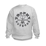 Trophy Husband Since 2002 Kids Sweatshirt