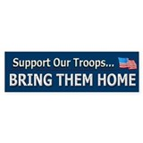 Bring Troops Home - Bumper Bumper Sticker